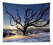 Driftwood Beach At Dawn Tapestry