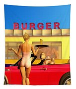 Drive-in Tapestry by John Edwards