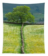 Dry Stone Wall And Lone Tree Tapestry
