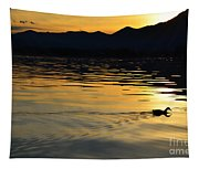 Duck Swimming Tapestry
