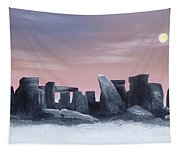 Dusk On The Winter Solstice At Stonehenge 1877 Tapestry
