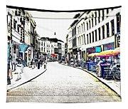 Dutch Shopping Street- Digital Art Tapestry