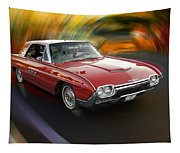 Early 60s Red Thunderbird Tapestry