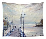 Early Morning In Lake Shore Tapestry