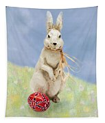 Easter Bunny With A Painted Egg Tapestry