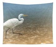 Egret Stroll Tapestry