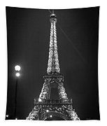 Eiffel By Night Tapestry