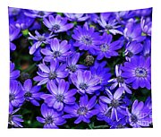 Electric Indigo Garden Tapestry