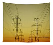 Electricity Pylons Tapestry