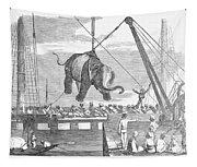 Elephant Hoist, 1858 Tapestry