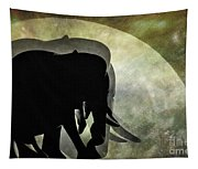 Elephants On Moonlight Walk 2 Tapestry