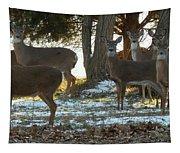 Eleven Deer Standing Tapestry