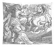 Elijahs Ascent To Heaven Tapestry