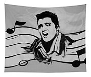 Elvis In Black And White Tapestry