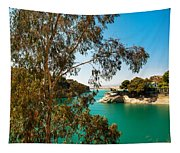 Emerald Lake With Duke House I. El Chorro. Spain Tapestry