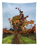 End Of The Vineyard Row Tapestry