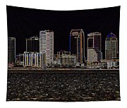 Energized Tampa - Digital Art Tapestry