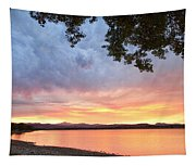 Epic August Sunset Tapestry