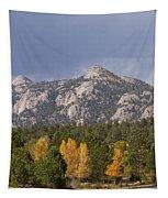 Estes Park Autumn Lake View Vertical Tapestry