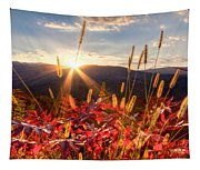 Evening Fire Tapestry