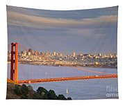 Evening Over San Francisco Tapestry