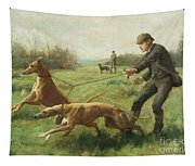 Exercising Greyhounds Tapestry