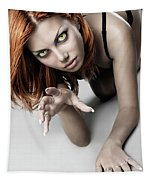 Expressive Sexy Cat Woman Tapestry