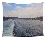 Fairmount Dam And Boathouse Row - Philadelphia Tapestry