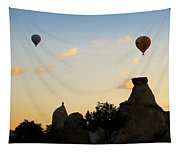 Fairy Chimneys And Balloons Tapestry