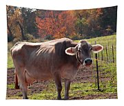 Fall Cow Tapestry