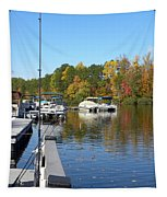 Fall Fishing Break Tapestry