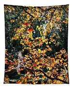 Fall Leaves Over Florida Pond Tapestry