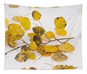 Fallen Autumn Aspen Leaves Tapestry