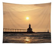 Falling On The Lighthouse Tapestry