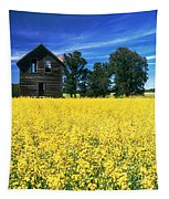 Farm House And Canola Field, Holland Tapestry