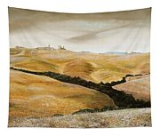 Farm On Hill - Tuscany Tapestry