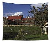Farm Scene With Barn  Tapestry