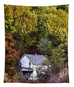 Farmhouse In Fall Tapestry