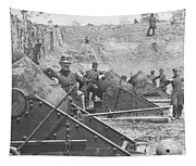 Federal Siege Guns Yorktown Virginia During The American Civil War Tapestry