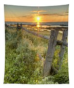 Fence Along The Shore Tapestry