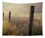 Fence And Field. Trossachs National Park. Scotland Tapestry