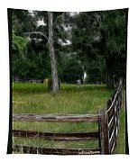 Fenced In Field Tapestry