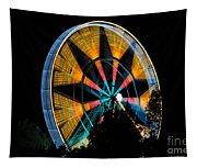 Ferris Wheel At Night Tapestry