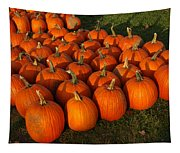 Field Of Pumpkins Tapestry