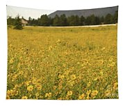 Field Of Yellow Daisy's Tapestry