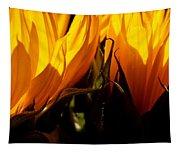 Fiery Sunflowers Tapestry