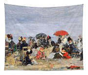 Figures On A Beach Tapestry
