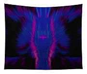 Fire Wolf Abstract Tapestry