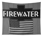 Firewater In Black And White Tapestry