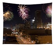 Fireworks Over The City Tapestry